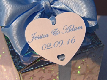 Personalised Wedding favour Tags - Heart
